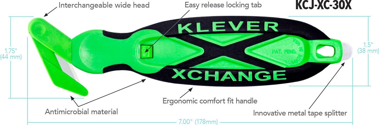 Kleen™ XChange - Narrow Head Diagram